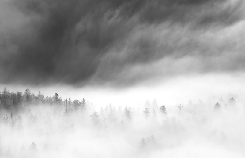 Sugarloaf Fog #1. From Sugarloaf Mountain, Colorado, 2012