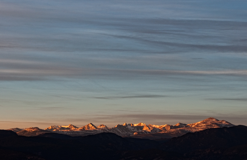Indian Peaks Dawn #2. Boulder County, Colorado, 2012