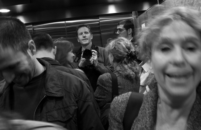 The Elevator. Catalunya, 2011...a novice street photographer in action!