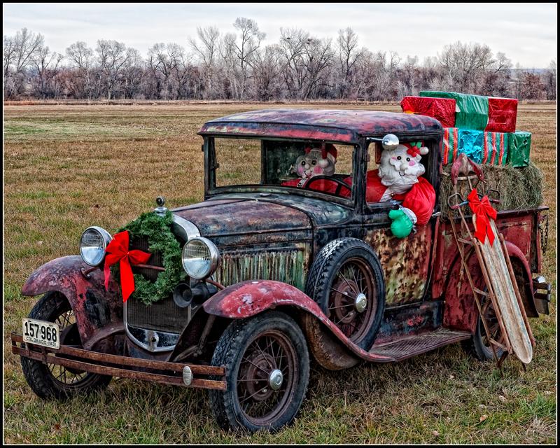 Santa's Truck, Boulder County, Colorado, 2012