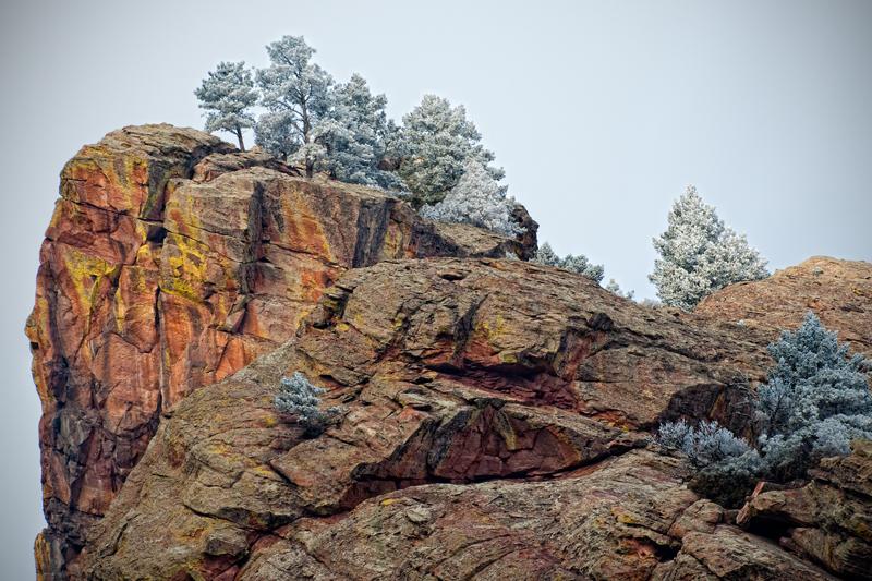 Frost, Redgarden Wall. Eldorado Springs Canyon, Colorado, 2013