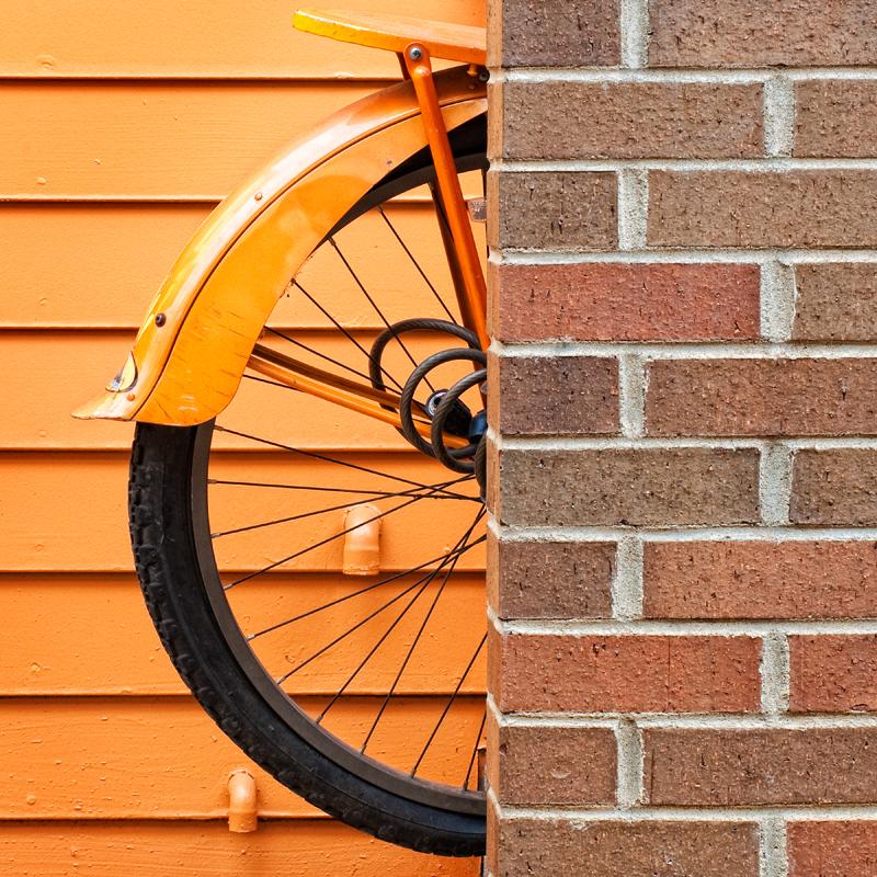 The Orange Bicycle. Boulder, Colorado, 2013