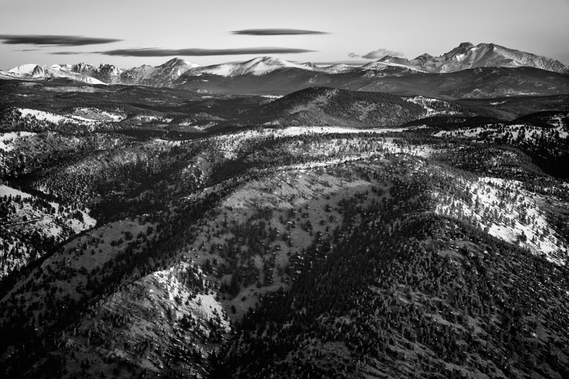 Long's Peak. From the summit of Sugarloaf Mountain, Colorado, 2013