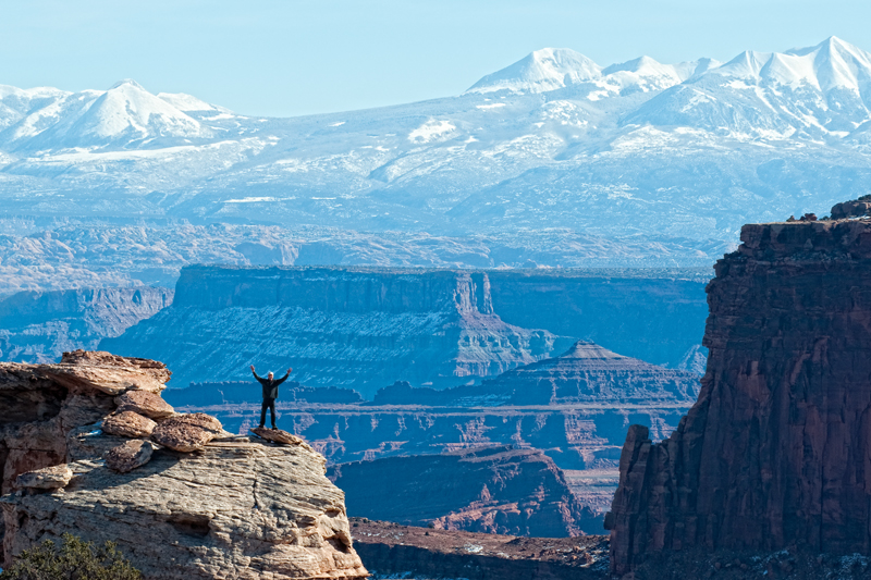 Salute to Mother Earth. Canyonlands, Utah, 2013