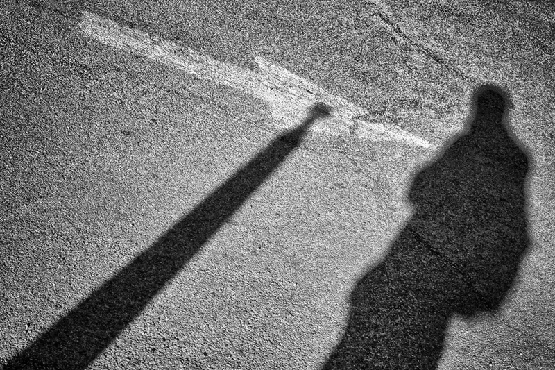 Shadows and Arrow, Self-Portrait. Tucson, Arizona, 2013