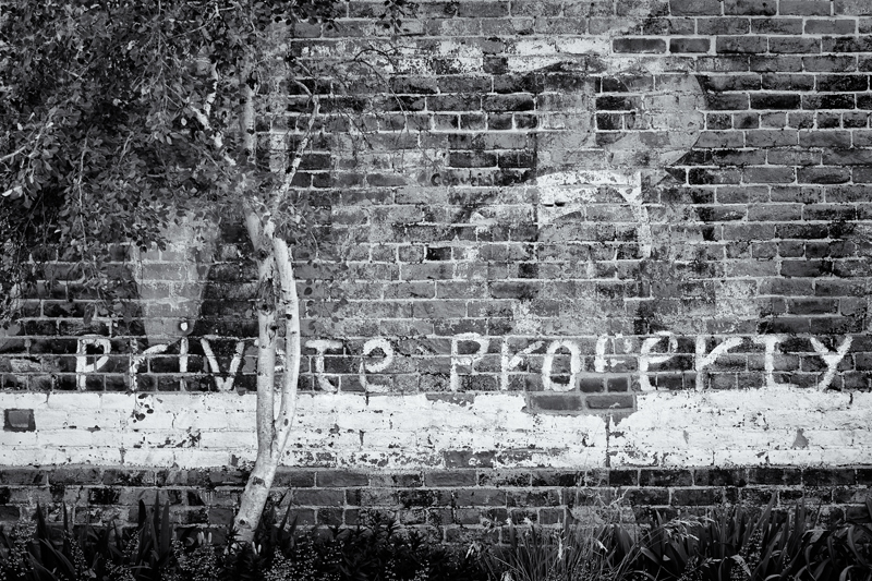 Private Property. Downtown Ft. Collins, Colorado, 2013