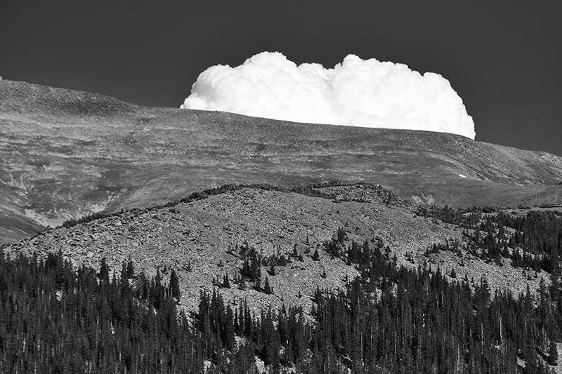 Colorado Cumulus. Near Berthoud Pass, Colorado, 2013