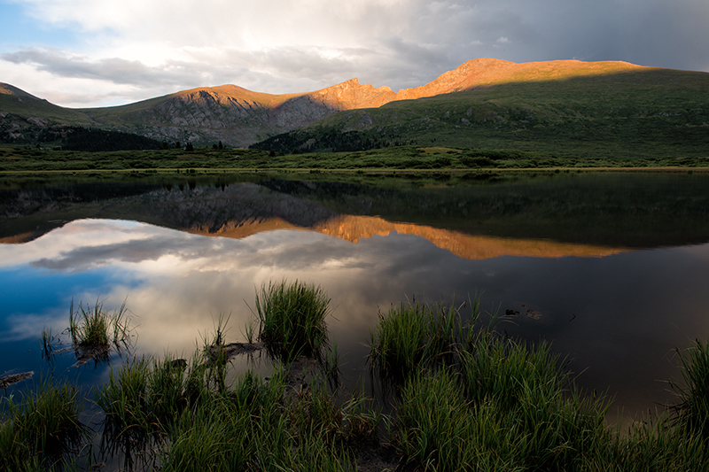 Sunset on Mt Bierstadt. Guanella Pass, Colorado, 2013