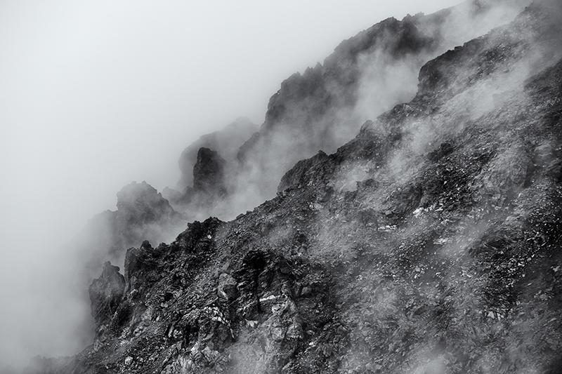 Glimpse through the fog. Trail Ridge Road, RMNP, 2013