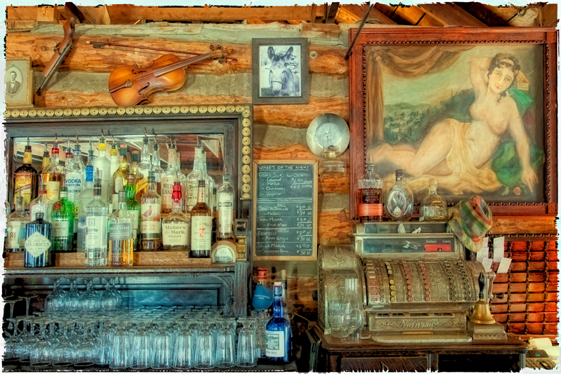 The Bar at Gold Hill. Gold Hill, Colorado, 2013 (A creative filter example.)