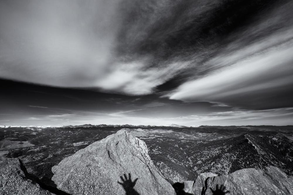 Bear Mnt Summit View #5 (The requisite summit selfie). Boulder, Colorado, 2013