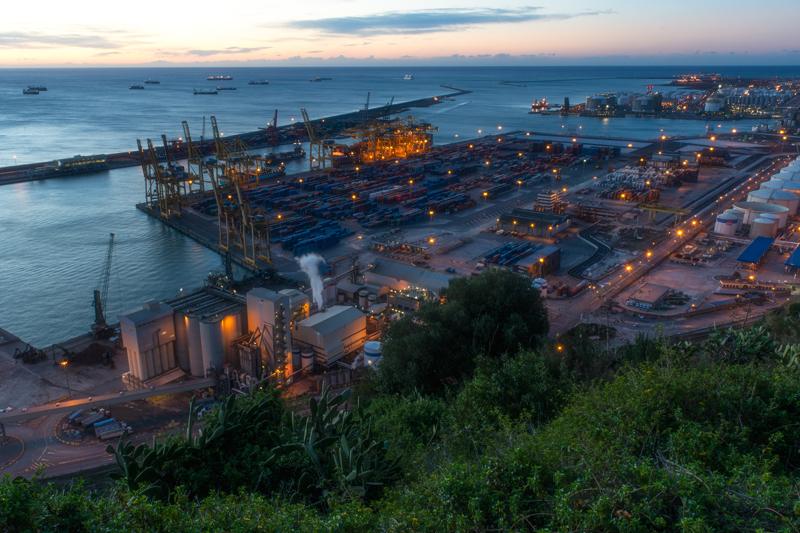Port de Barcelona #3. From Montjuic, Barcelona, 2013