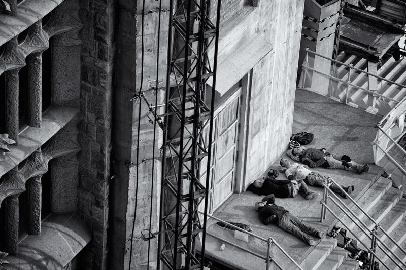 Resting Workers, Sagrada Familia. Barcelona, 2014