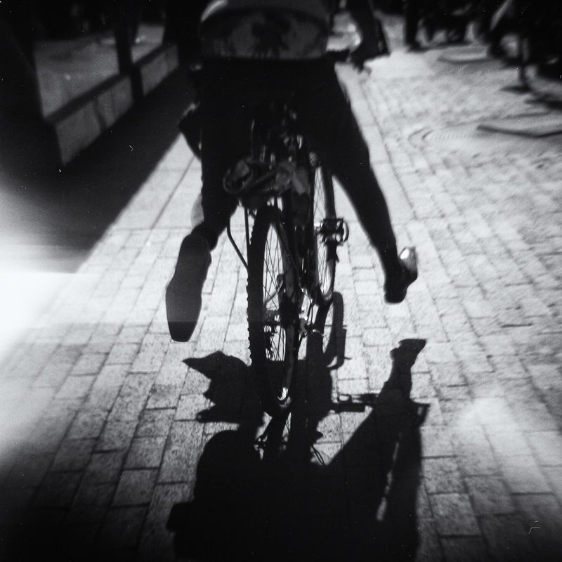 Man on Bicycle. Boulder, Colorado, 2014 (Diana camera)