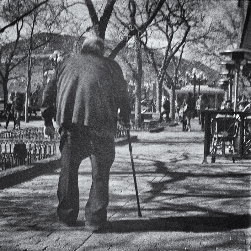 The Man on Pearl Street. Boulder, Colorado, 2014 (Brownie Hawkeye)