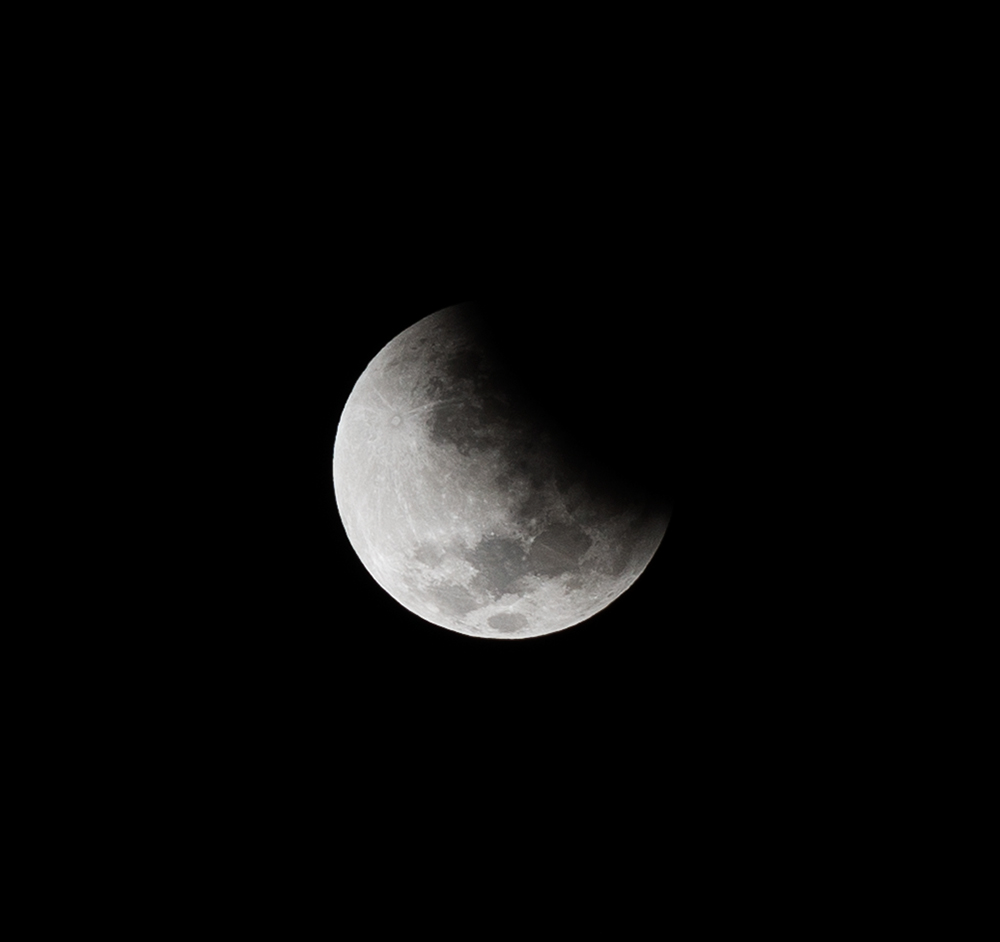 Lunar Eclipse Begins. Mendoza, Argentina, 2014