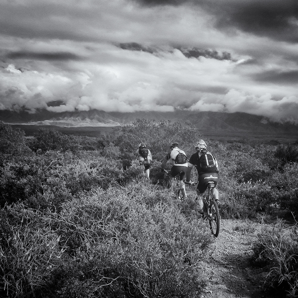 Up the single track, Chacras. Mendoza, Argentina, 2014