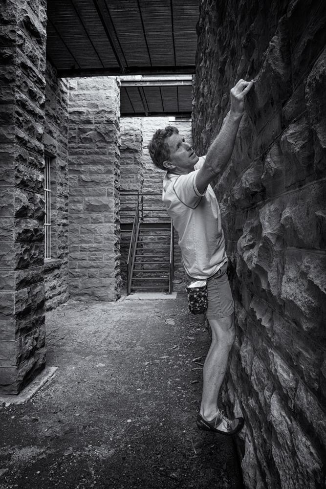 Buildering #2. Somewhere in Boulder, Colorado, 2014