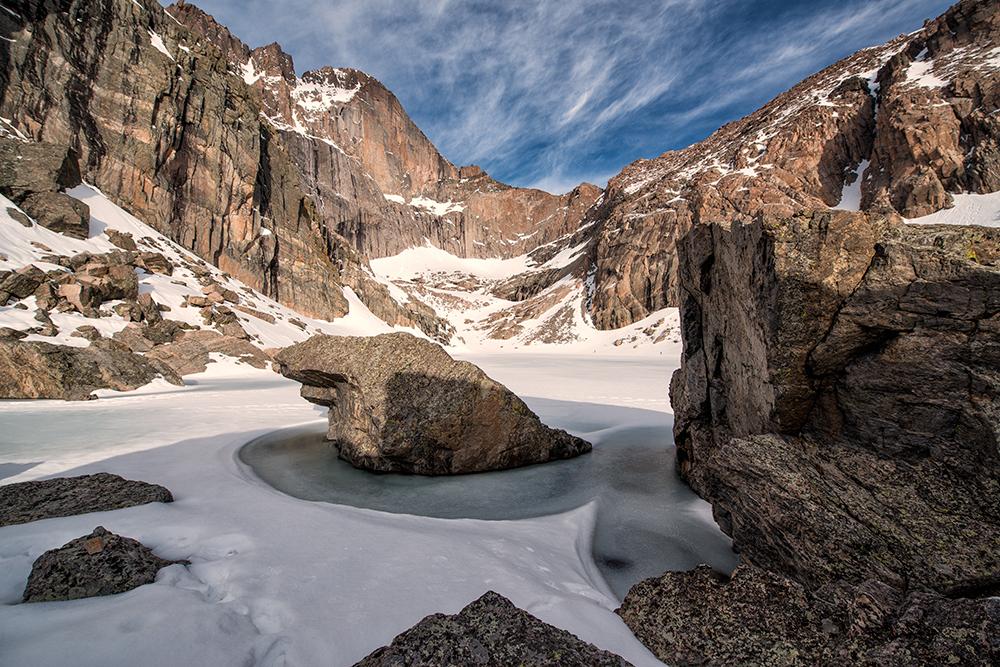 Chasm Lake #6 (color). RMNP, Colorado, 2014