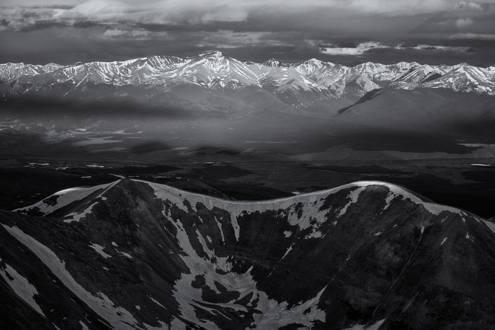 Sunrise on Mt. Massive & the Sawatch Range. Colorado, 2014