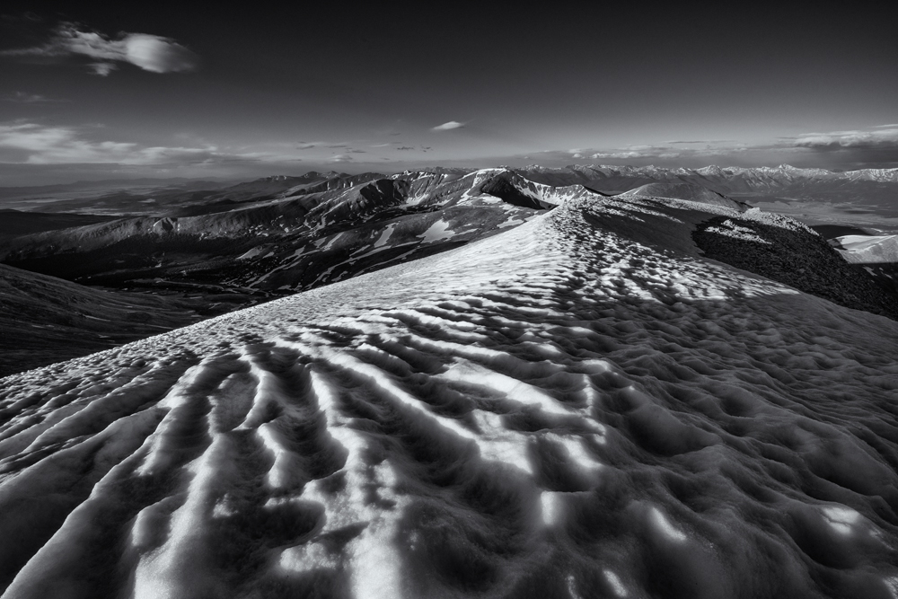 The view south, Mt Sherman Summit. Colorado, 2014