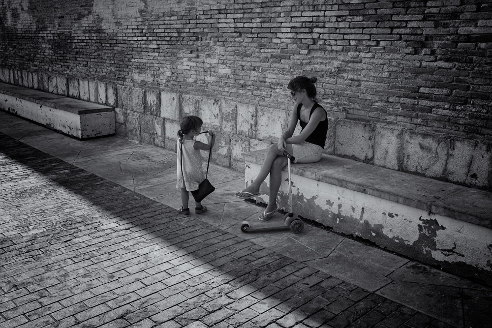 Mother and Daughter. Sitges, Catalunya, 2014
