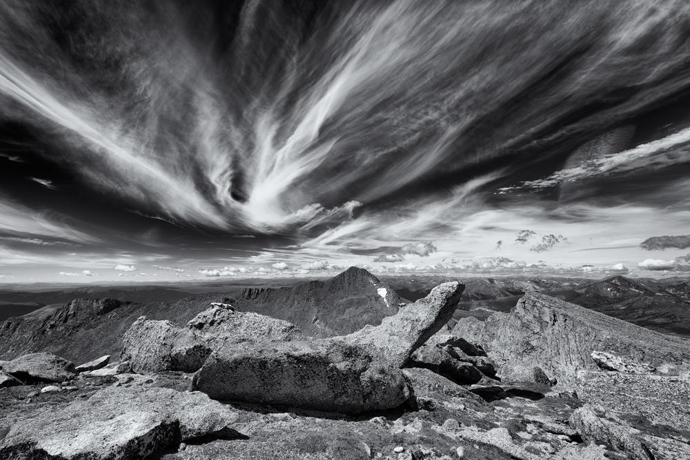 Cirrus Over Bierstadt, #1. From Mt. Evans, Colorado, 2014