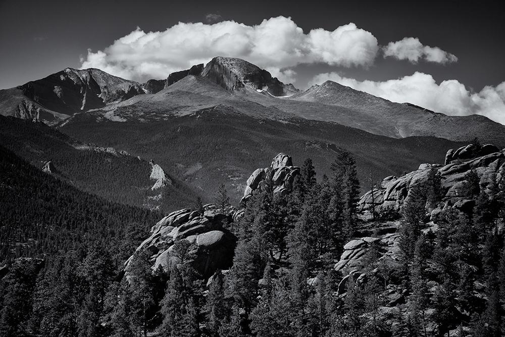Longs Peak from Old Man Mountain. Estes Park, Colorado, 2014