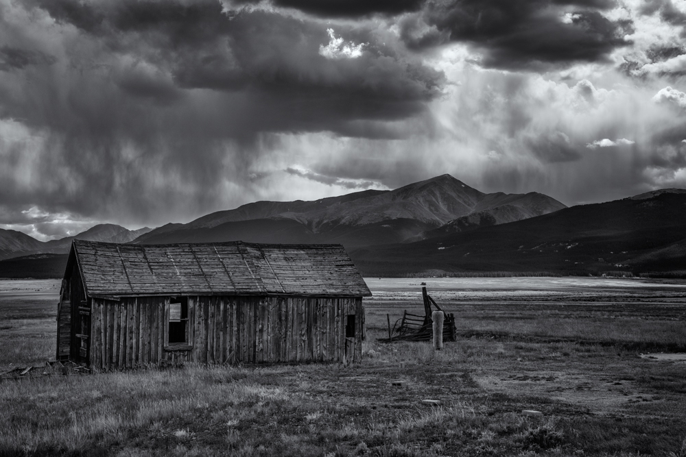Late Summer Storm Over Mt. Elbert. From near Leadville, Colorado, 2014