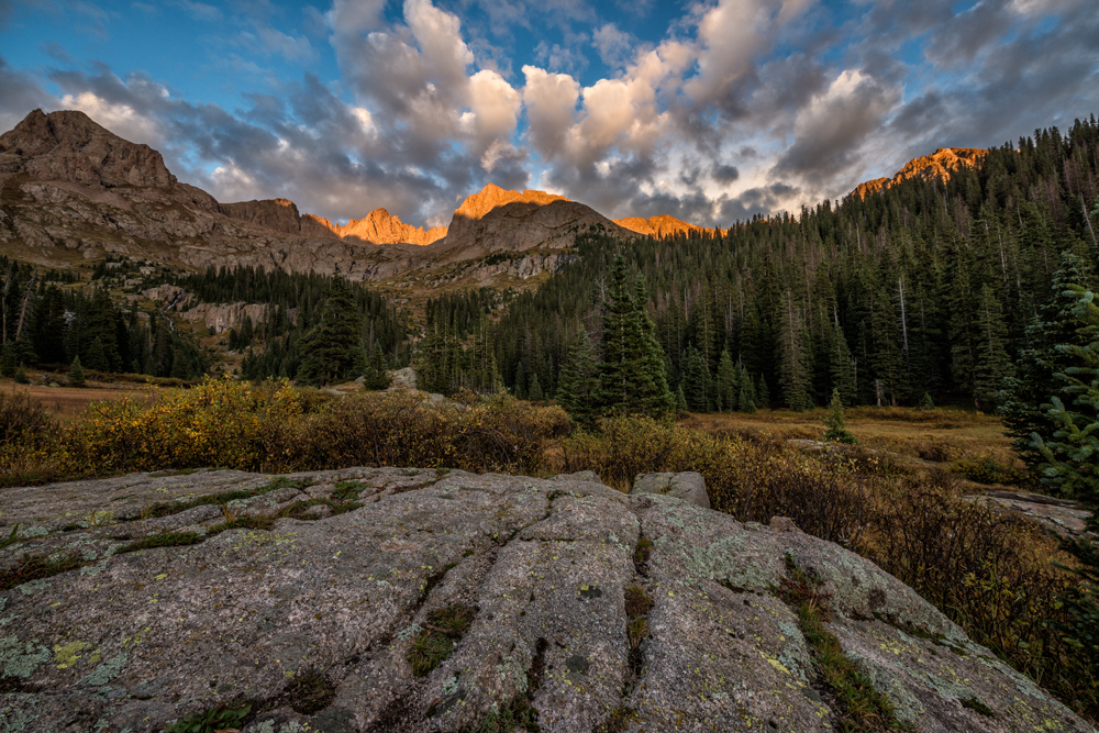 Fall Sunset, Chicago Basin, #1. Needle Mountains, Colorado, 2014 (First post-processing attempt.)