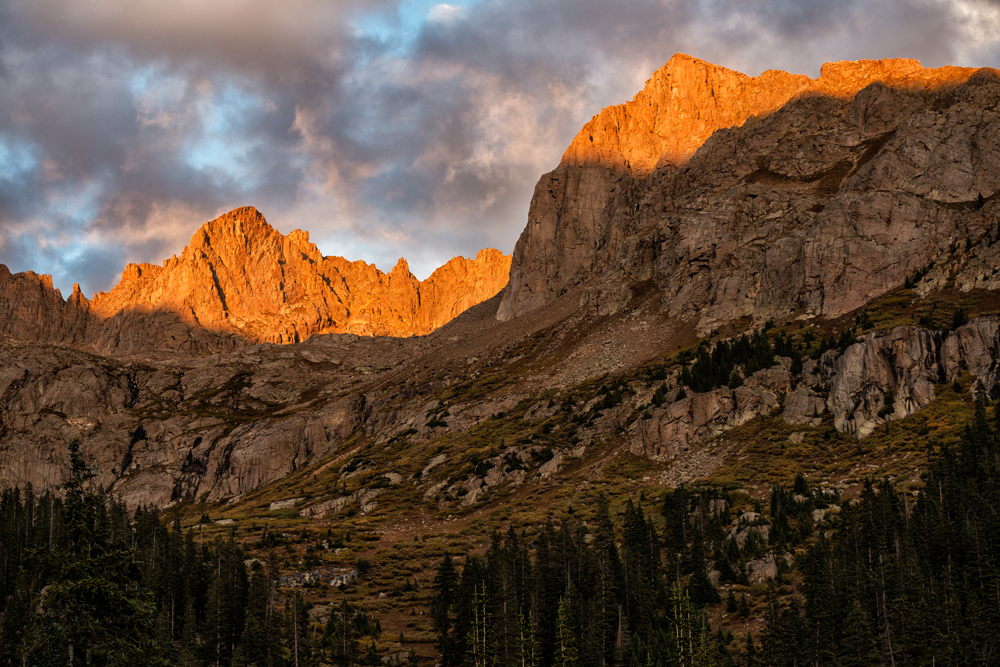 Fall Sunset #2. Chicago Basin, Colorado, 2014