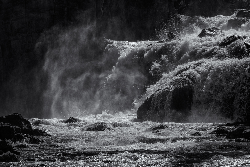 The Roar of the Falls. Yellowstone NP, Wyoming, 2014