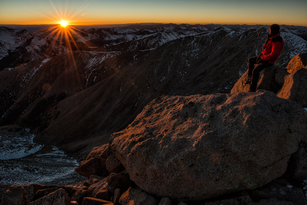 Shavano Sunset. Mount Shavano, Colorado, 2014