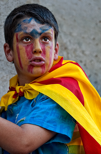 Young Protester. Barcelona, 2010