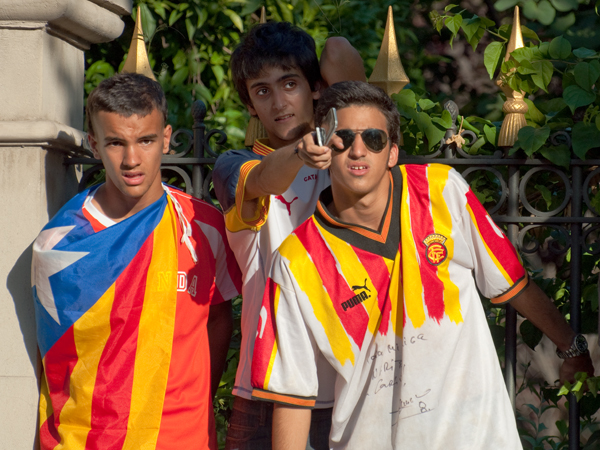 Three Immigrant Teens. Barcelona, 2010