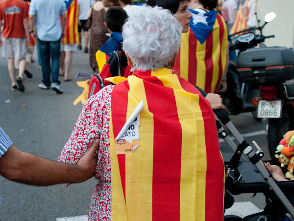 Elderly Patriot. Barcelona, 2010