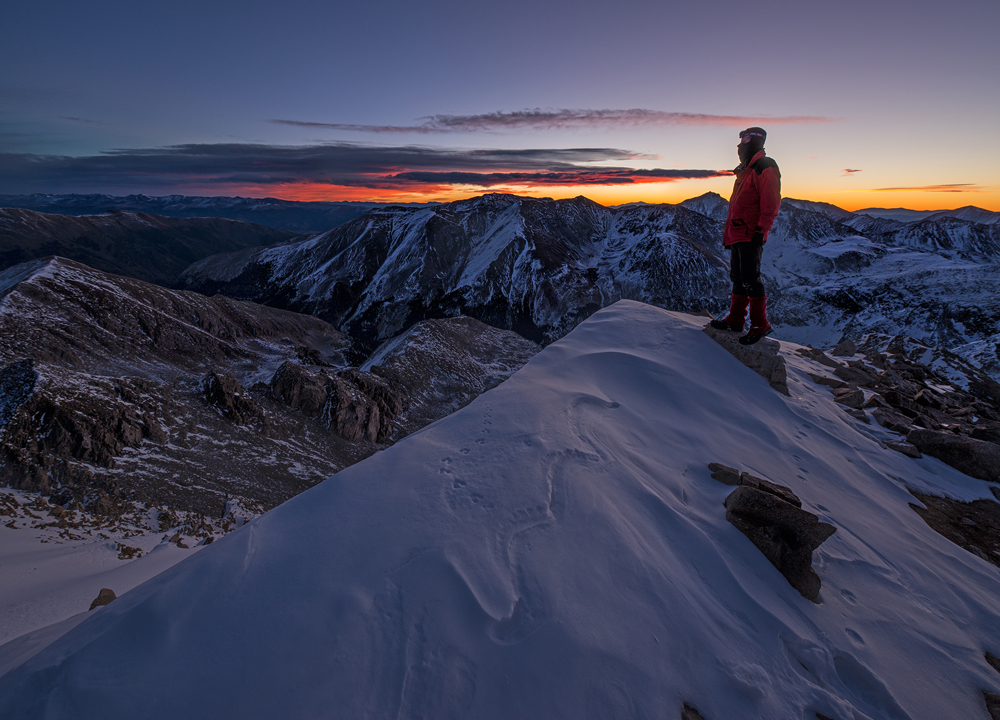 The Approaching Sunrise. Huron Peak, Colorado, 2014