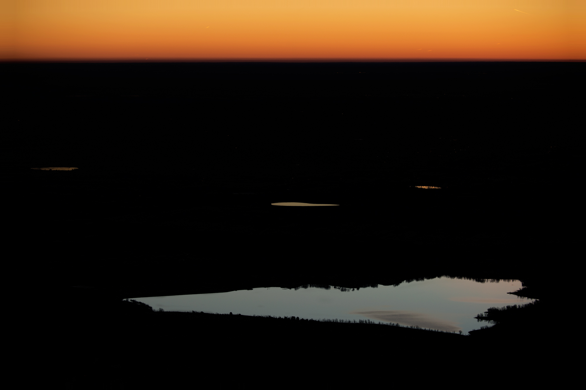 Dawn On the Plains. From Bear Peak, Boulder, Colorado, 2014