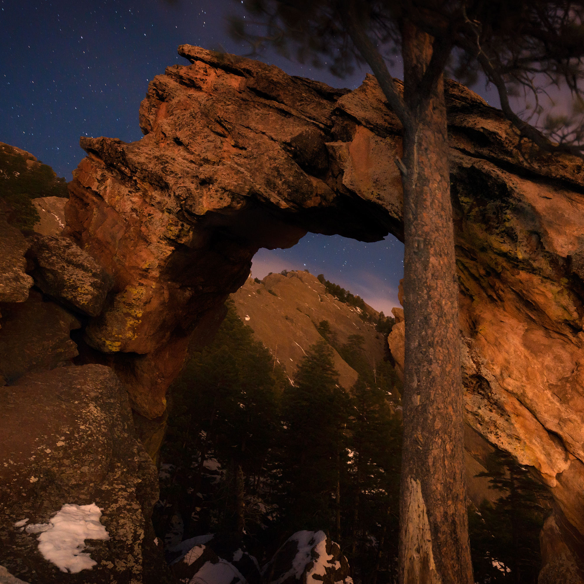 Royal Arch, Pre-Dawn Stars. Boulder, Colorado, 2014