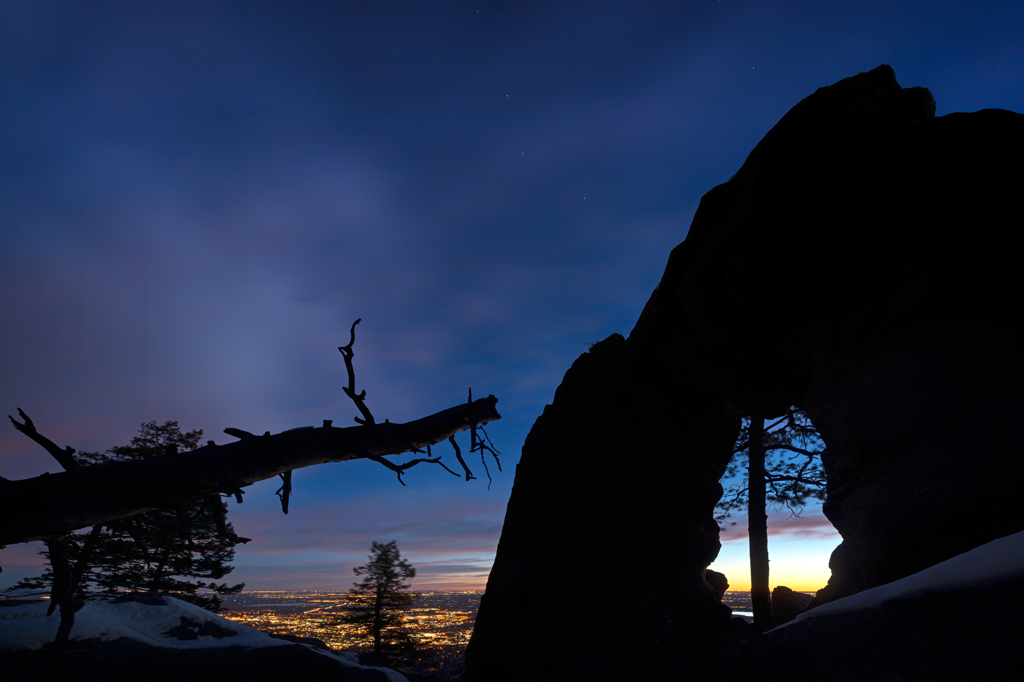 Royal Arch, Boulder View. Boulder, Colorado, 2014