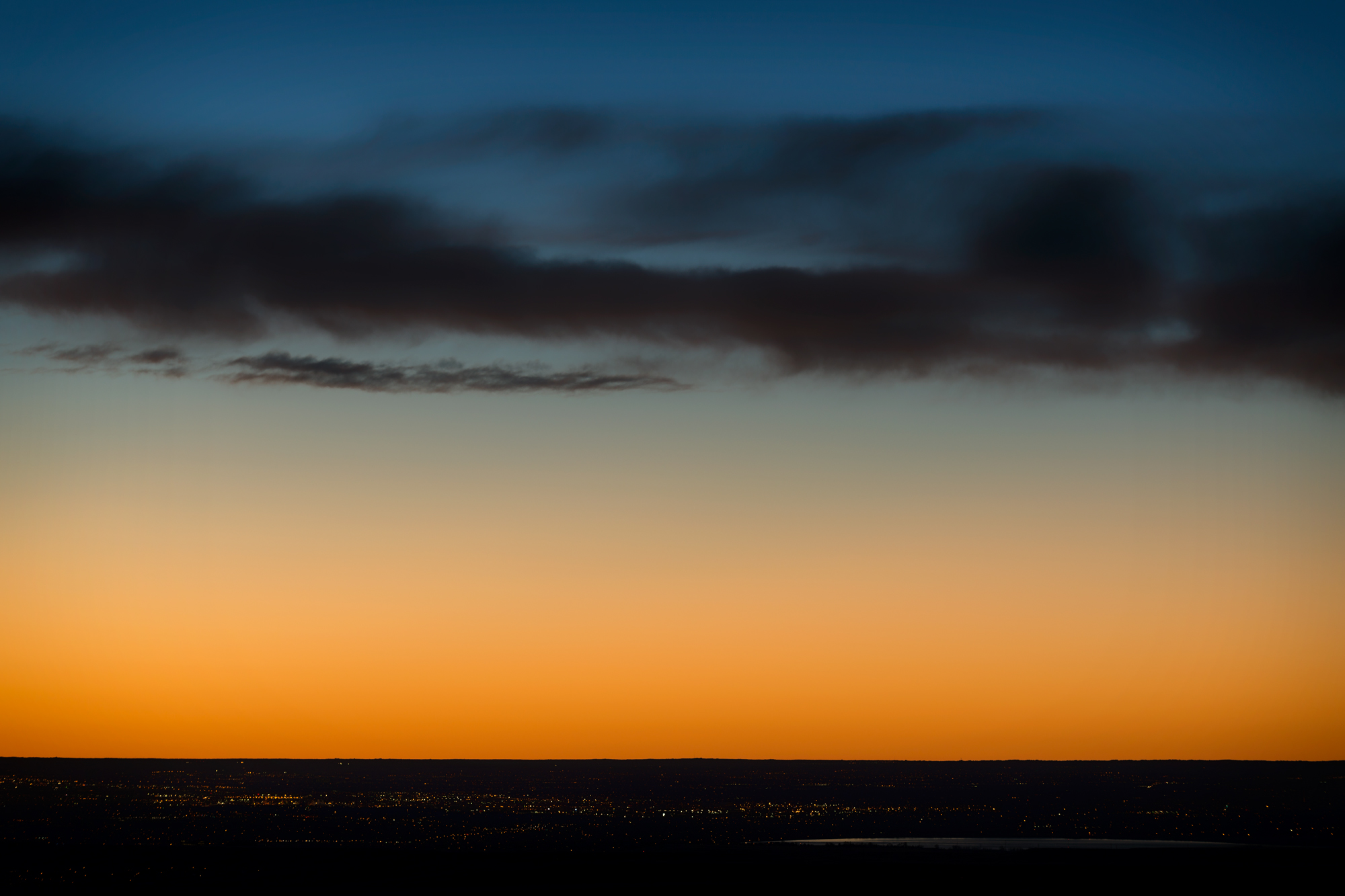 Approaching Dawn, Urban Horizon. Boulder, Colorado, 2014