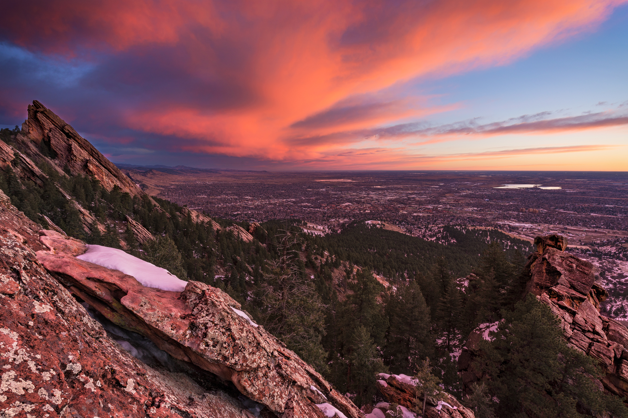 Boulder View, Approaching Dawn. Boulder, Colorado, 2014