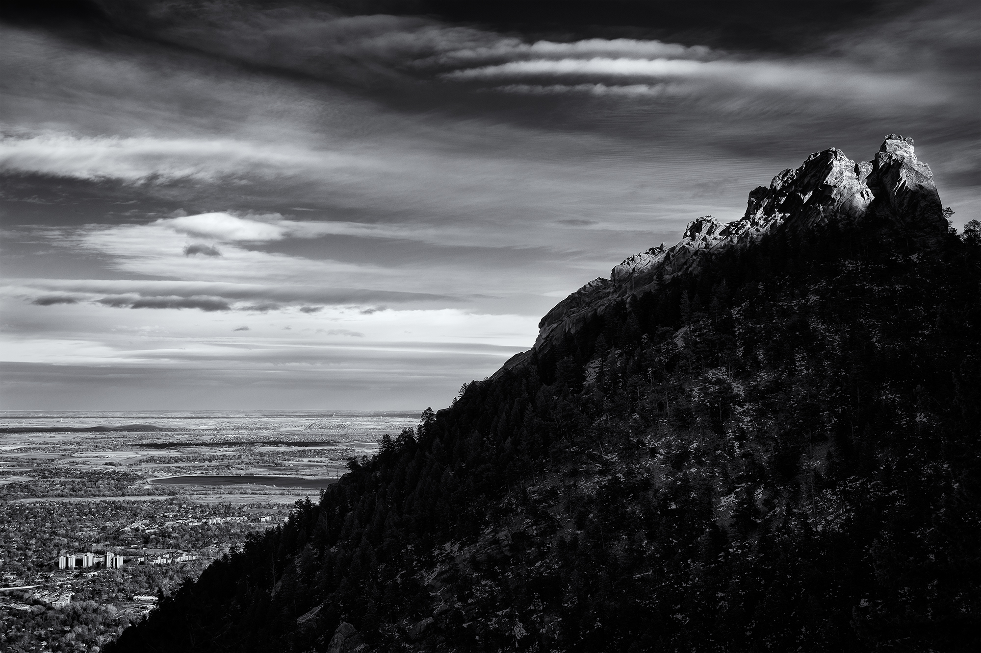 First Flatiron Profile, #1. Green Mountain, Boulder, Colorado, 2014. (On the Saddle Rock Trail.)