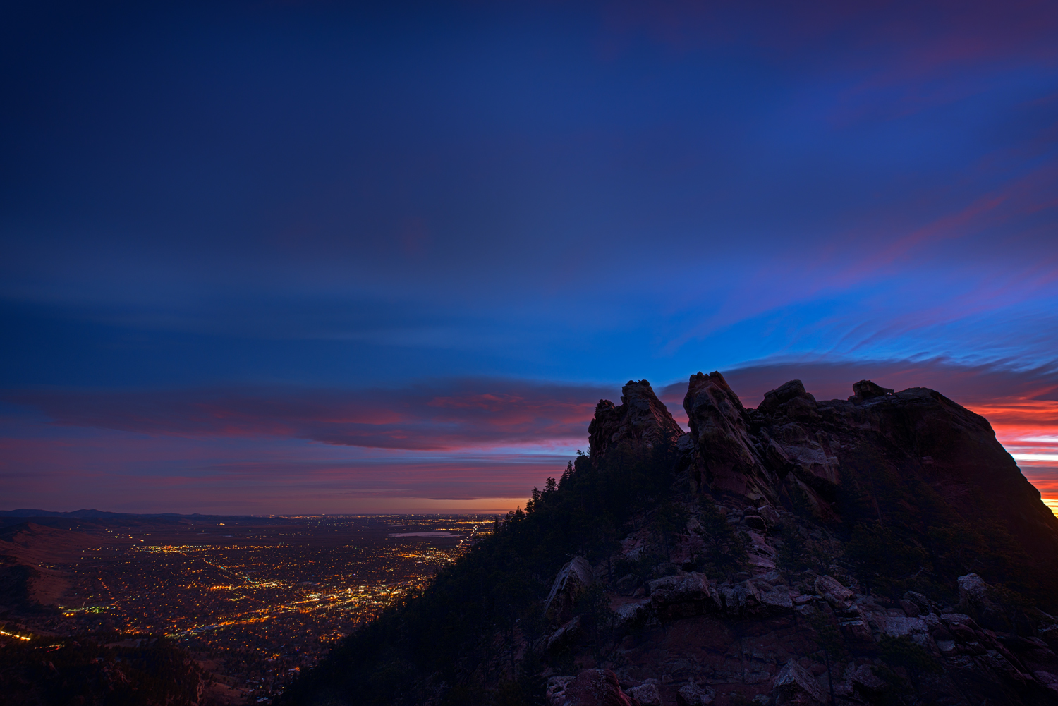 Boulder and the First Flatiron. Boulder, Colorado, 2014