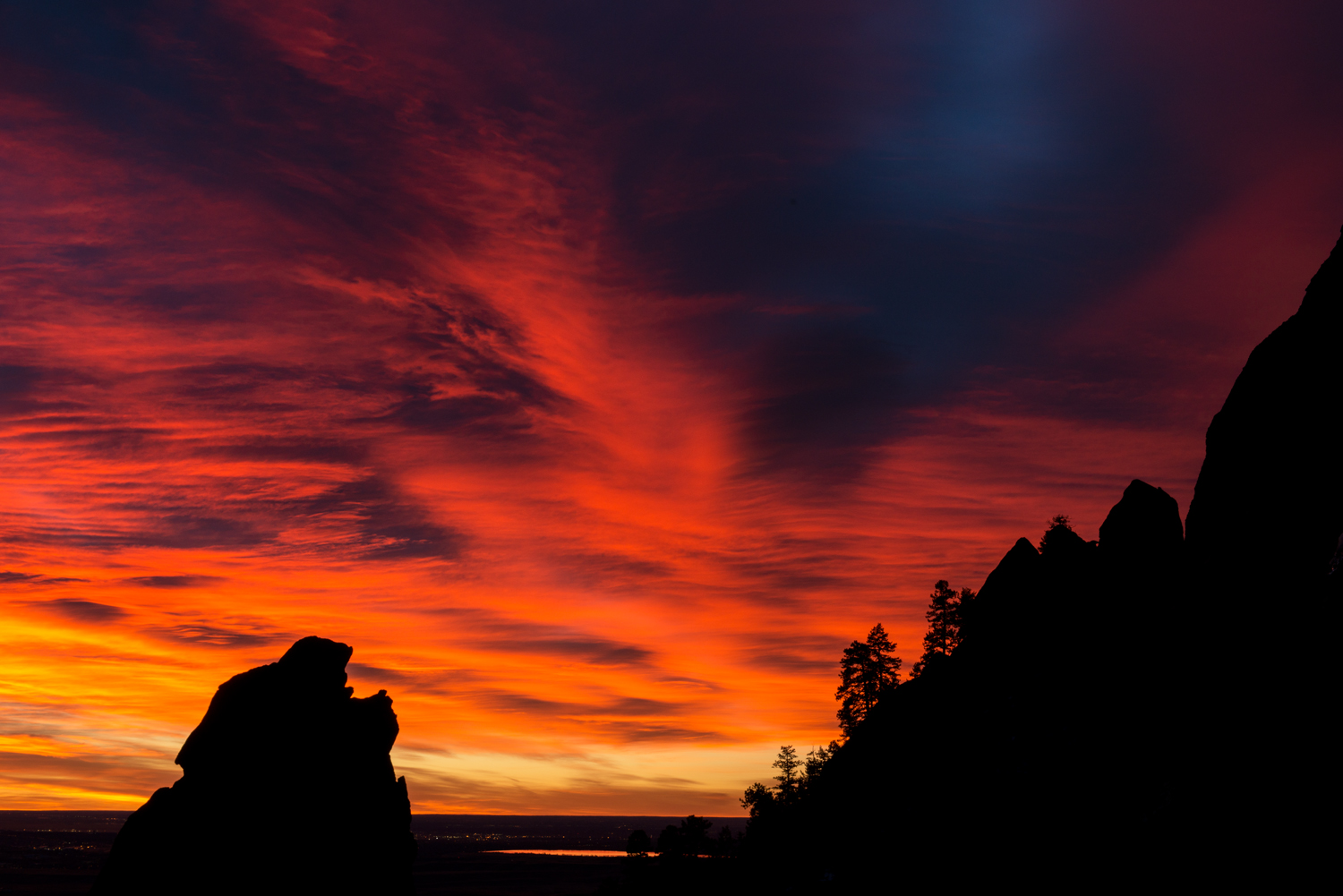 Fiery Sunrise, Third Flatiron, #1. Boulder, Colorado, 2014