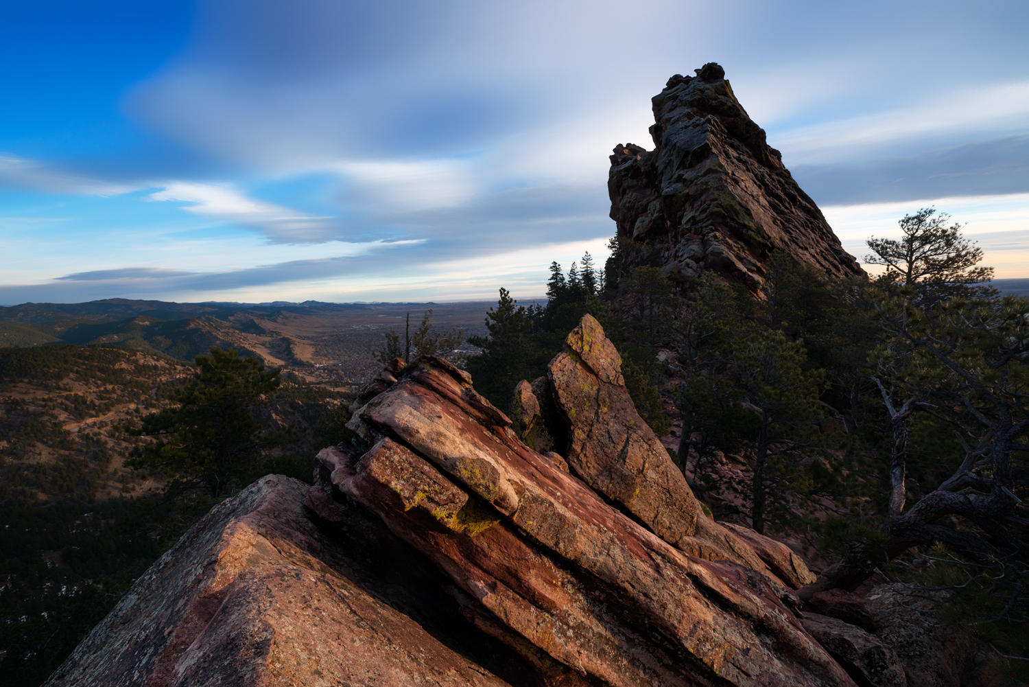 First Flatiron, View North. Boulder, Colorado, 2014