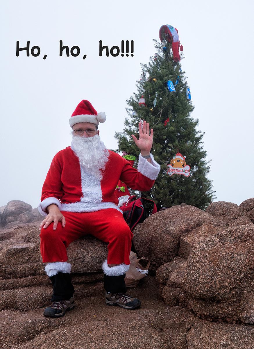 Santa Portrait. Camelback Mountain, Phoenix, Arizona, 2014