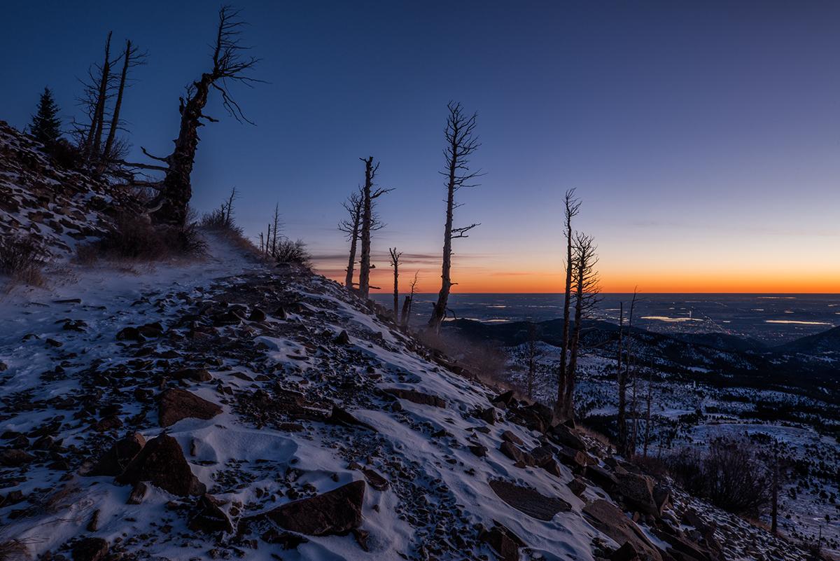 Sugarloaf Sunrise, #3. Near Boulder, Colorado, 2014