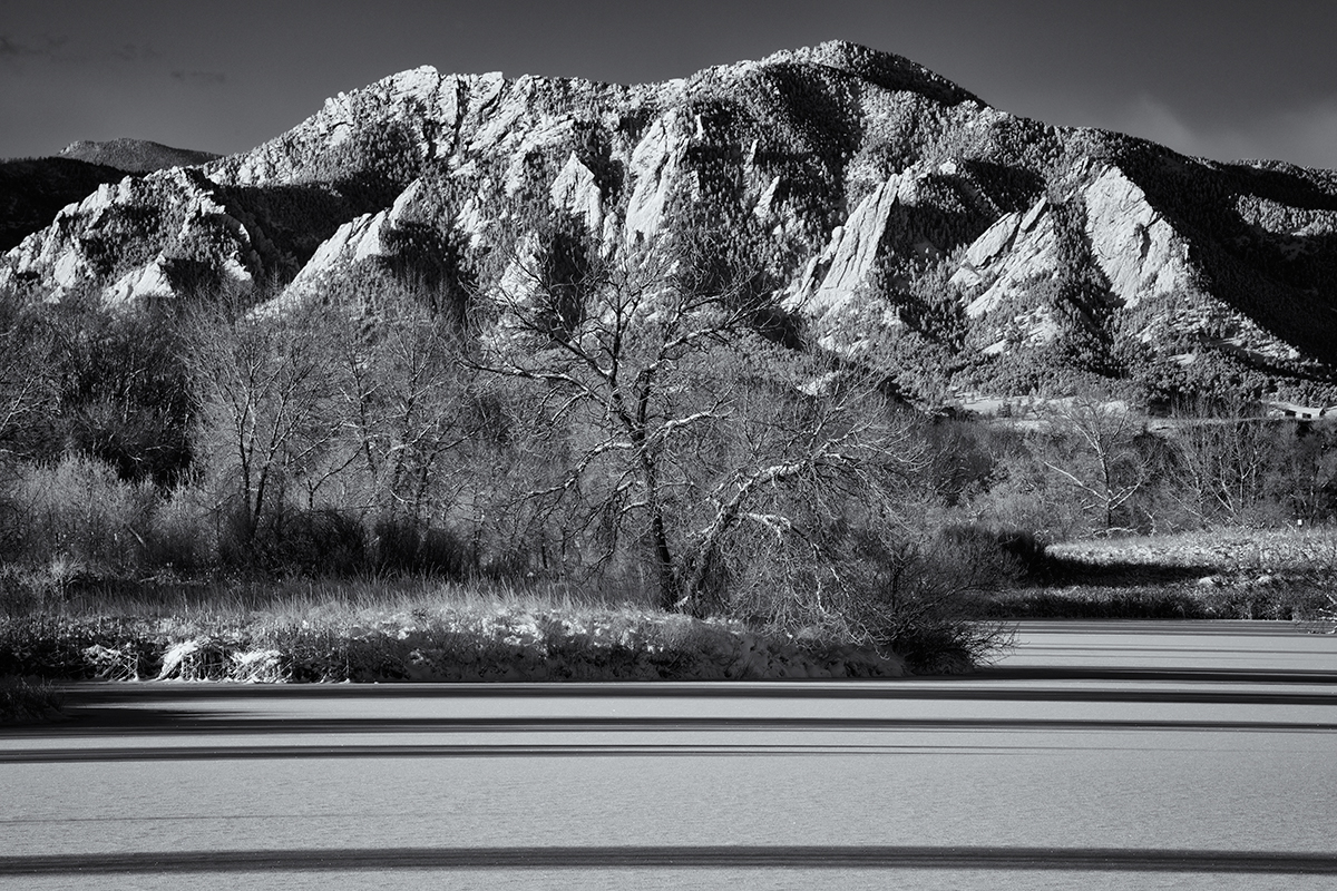 Flatirons Sunrise, #4. Sawhill Ponds, Boulder, Colorado, 2014