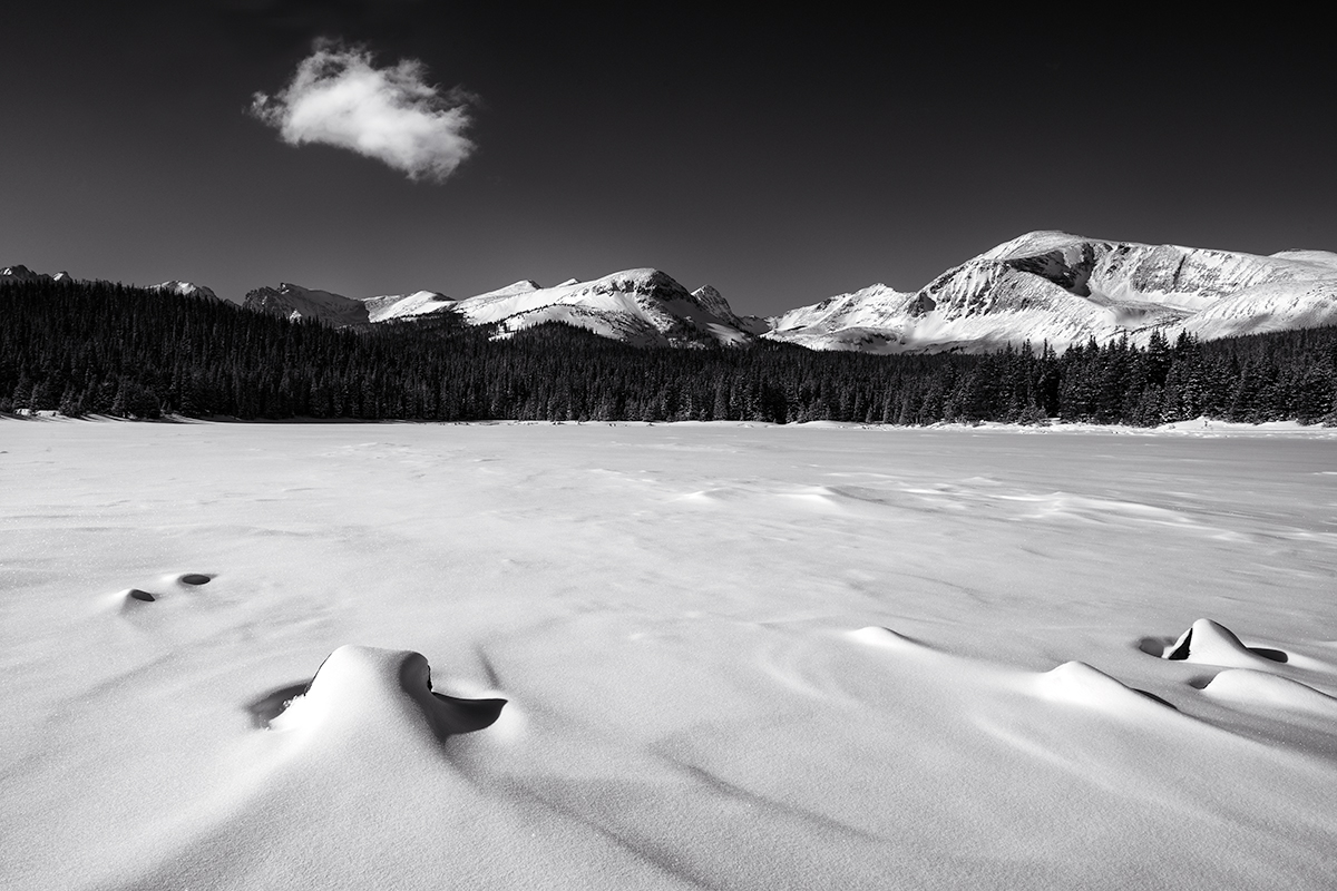 Brainard Lake and Mt Audubon. Last day of the year, 2014